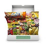 Over-sized World Snack Box (47 Count) | 9 full sized snacks + 38 treats | Huge Assortment of Asian Snacks, European Treats, Central American Candy and more | Gift Care Package |
