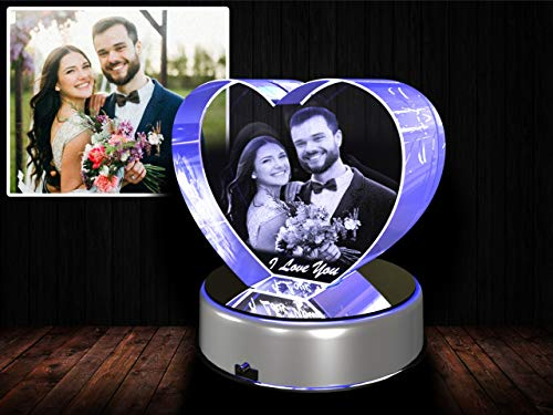 (Personalized Custom 2D/3D Photo Etched Engraving Crystal)
