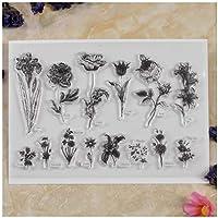KWELLAM Bloemen Rose Lelie Papaver Tulp Duidelijke Stempels voor Kaarten Maken Decoratie en DIY Scrapbooking