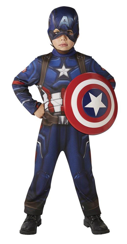 con stemma; ispirato al film Civil War S blu Costume di Capitan America Classic Hasbro The Avengers