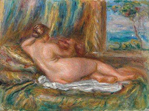 The Museum Outlet - Reclining Nude, 1914, Stretched Canvas Gallery Wrapped. 11.7x16.5""