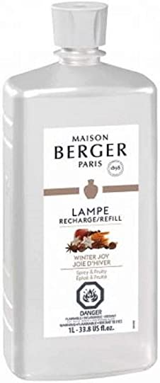 Winter Joy – Lampe Berger Fragrance Refill for Home Fragrance Oil Diffuser – 33.8 Fluid Ounces – 1 Liter