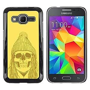 Be Good Phone Accessory // Dura Cáscara cubierta Protectora Caso Carcasa Funda de Protección para Samsung Galaxy Core Prime SM-G360 // Funny Hipster Skull Skeleton