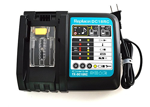 JANRI Replacement DC18RC DC18RA Rapid Power Tools Lithium-Ion Drill Battery Charger 14.4V-18V for Makita BL1415 BL1420 BL1425 BL1430 BL1430A BL1440 BL1445 BL1450 BL1460 BL1475 BL1490 BL1815 BL1815N