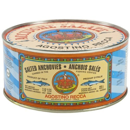 (Agostino Recca Salted Whole Anchovies, 800g)