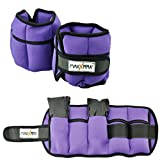 MaxxMMA 5 lbs Adjustable Neoprene Ankle Weights Pair, 2.5 lbs each (Purple)
