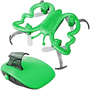 "Force1 Mini Drone for Kids & Adults - ""Monarch Leaf"" Hand Motion Controlled Drone with Bright LEDs and Auto Hover for Easy Motion Drone Flight and Flips (Green)"