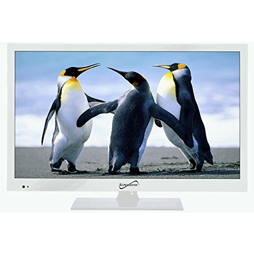Supersonic SC-1511 White 15.6″ 1080p LED Widescreen HDTV with HDMI & USB Input