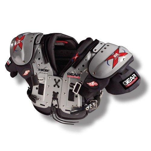 (Pro-Tec Gear X2 AIR X-SOBF OL/DL/DE/TE Football Shoulder Pads, Medium )