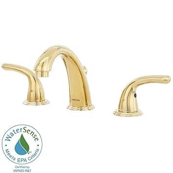 Glacier Bay FW0B4600PBV 8 in. 2-Handle Mid-Arc Bathroom Faucet in ...