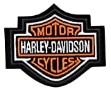 Harley-Davidson Orange Bar & Shield Patch XS 3'' x 2 1/2'' EMB302381
