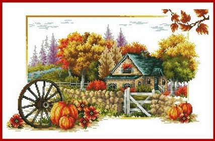 (Happy Forever Cross Stitch, The scenery of autumn)