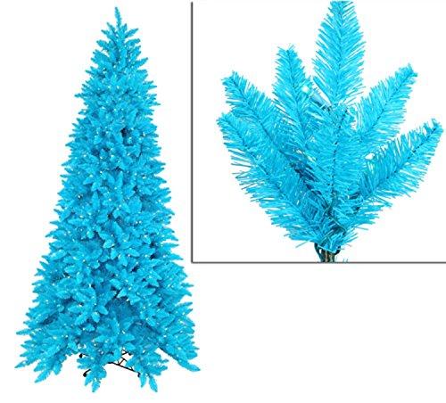 Vickerman 12' Pre-Lit Slim Sky Blue Ashley Spruce Christmas Tree - Clear & Blue Lights