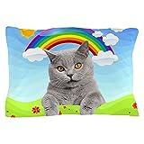 CafePress - Rainbow Kitty - Standard Size Pillow Case, 20''x30'' Pillow Cover, Unique Pillow Slip