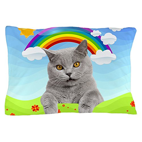 CafePress - Rainbow Kitty - Standard Size Pillow Case, 20''x30'' Pillow Cover, Unique Pillow Slip by CafePress