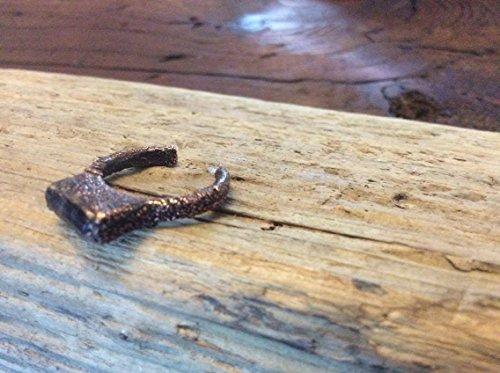 Hand Made Electroformed Copper Tourmaline Toe (Bezel Toe Ring)