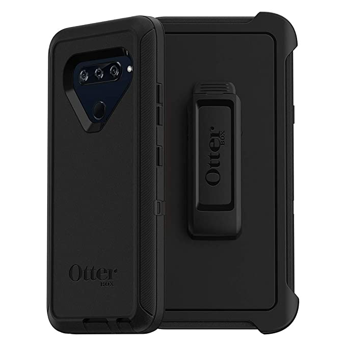 new style d6b36 64d96 OtterBox Defender Series Case for LG V40 ThinQ - Retail Packaging - Black