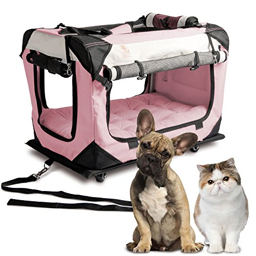"PetLuv ""Pull-Along Rolling Cat & Dog Carrier & Travel Crate"
