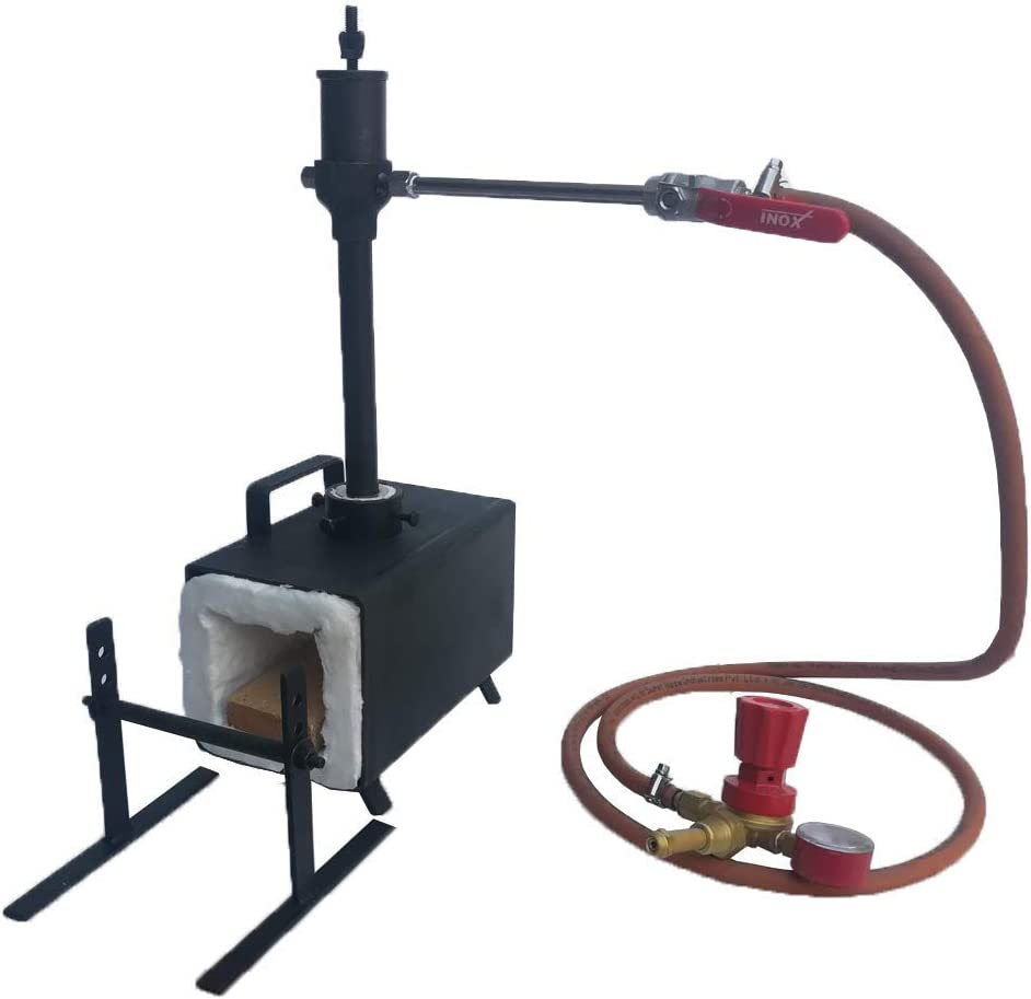 Blacksmiths Single Burner Propane Forge with Stand for Knifemaking Farriers