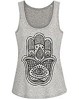 Pretty Attitude Hand der Fatima Hamsa Hand Yoga Damen T-Shirt Top mit Racerback