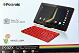 Polaroid P902X Quad-Core 9 Tablet With Android 5.1 Lollipop, 2 Cameras, Keyboard, Case, Sand and Earbuds (Red)