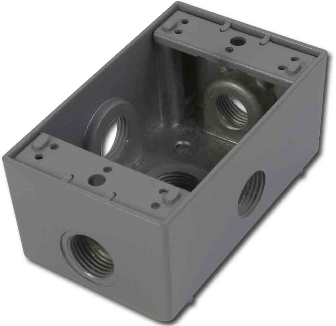 Greenfield B25SPS Series Weatherproof Electrical Outlet Box Gray Greenfield Industries Inc.