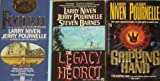 3 Science Fiction Novels By Larry Niven and Jerry Pournelle: Footfall / The Legacy of Heorot / The Gripping Hand
