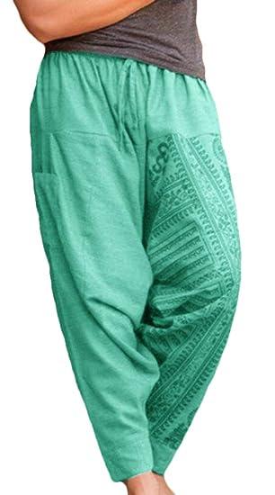 a338c924a6f1f XTX Men s Loose Fit Big and Tall Jogging Sport Print Harem Pants Blue US XS