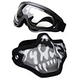 """Airsoft mask, Coxeer Tactical Airsoft Mask """"Striker"""" Steel Metal Mesh Lower Half Face Mask"""