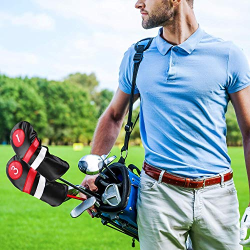 Amazon.com: Cubiertas para palos de golf, color negro, rojo ...