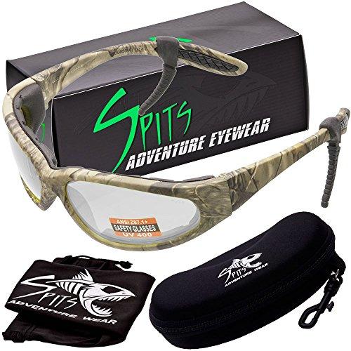 - Hercules Photochromic Foam Padded Safety Glasses - Forest Camo Frame - Clear/Smoke Lenses