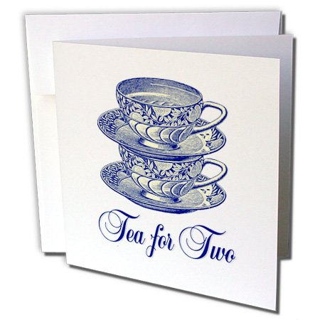 Russ Billington Designs - Two Pretty China Tea Cups Stacked - 12 Greeting Cards with envelopes (gc_239187_2)