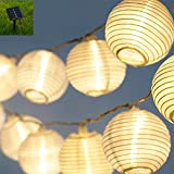 Star Fire Waterproof Solar String Lights Outdoor 19.68ft 6m 30 LED 2 Modes Warm White Lantern Solar String Lights for Outdoor, Gardens, Homes, Wedding, Christmas Party