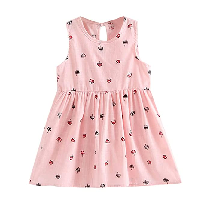 Kavitoz-baby dress for 2-7 Year Old Kid Dress ☀ Cute Toddler Baby Girls Summer Princess Dress Party Wedding Sleeveless Dresses