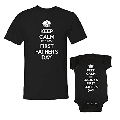 429916a6 We Match! Keep Calm It's My First Father's Day & Daddy's First Father's Day  Matching