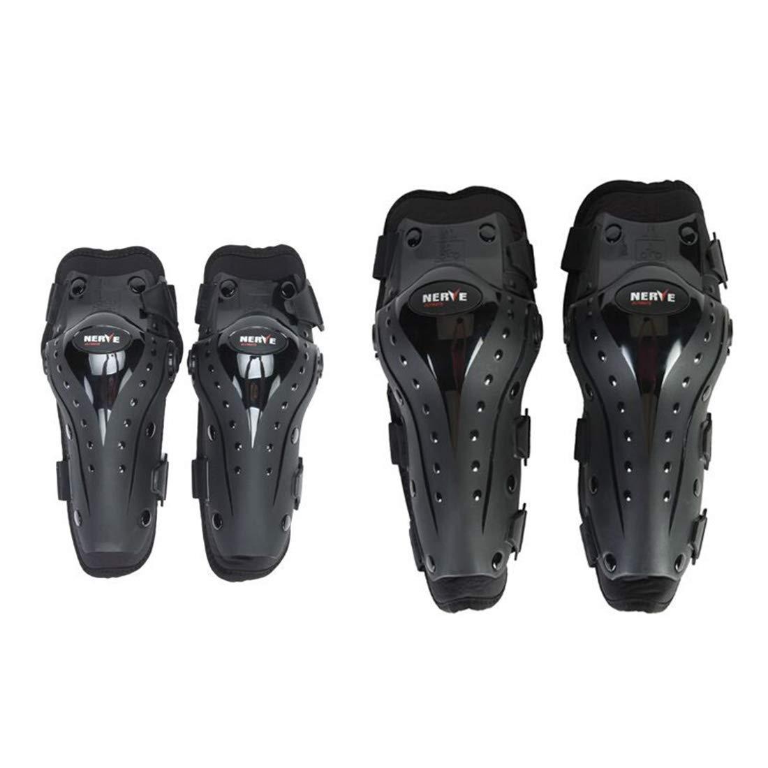 Keriya Sende 膝プロテクターオートバイの肘と膝パッドモトクロスサイクリングプロテクターガードアーマーセット用サイクリングスケートスキー乗馬 - 4本 (サイズ : One set) B07SW9L9JV  One set