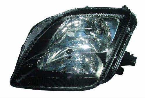 Depo 317-1139P-US2 Honda Prelude Headlight Unit with Black Bezel