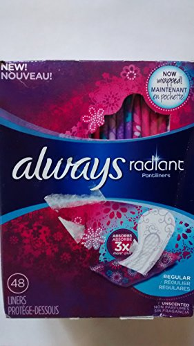 always-radiant-pantiliners-regular-unscented-48-count