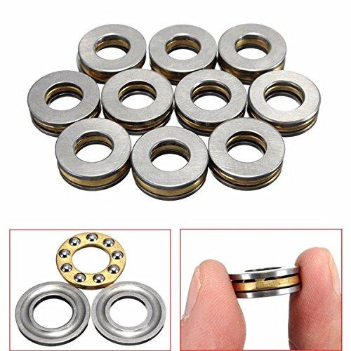 10pcs F8-16M 8x16x5mm Axial Ball Thrust Bearing 8mm x 16mm x ()