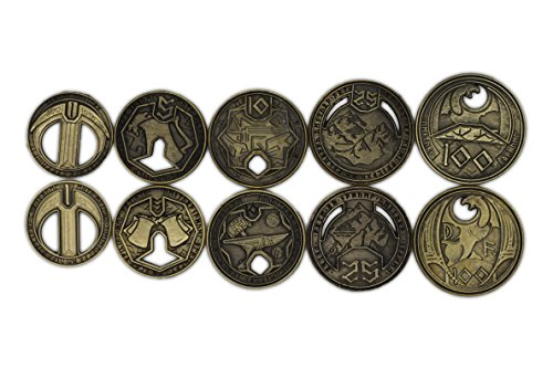 Norse Foundry Adventure Metal Coins Variety Pack (Set of 10) Dwarven Style RPG D&D by Norse Foundry