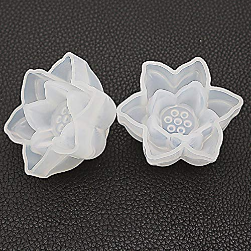 - Splendidsun Lotus Resin Casting Silicone Mould, Mirror Three-Dimensional Lotus Flower Silicone Mould Crystal Epoxy DIY Handmade Jewelry
