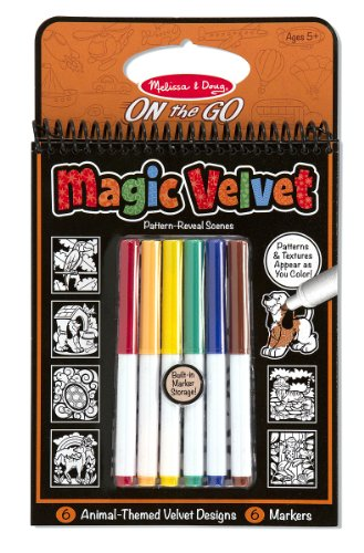 Melissa & Doug On the Go Magic Velvet Pattern-Reveal Activity Kit - Animals Go Go Pets Set