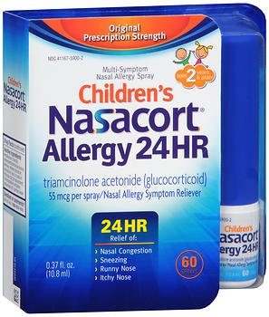 Nasacort Allergy 24HR Spray Children's - 0.37 oz, Pack of 2 by Nasacort