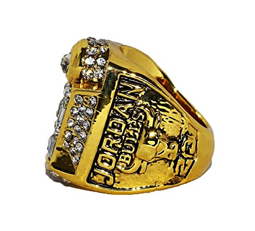 CHICAGO BULLS (Michael Jordan) 1998 NBA FINALS WORLD CHAMPIONS (Repeat 3 Peat) Vintage Rare & Collectible High Quality Replica NBA Basketball Championship Ring with Cherrywood Display Box