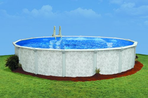 Embassy Pool 4-2816 PARA101 Above Ground Swimming Pool, 28-Feet by 16-Feet by 52-Inch, Silver ()