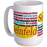 CafePress - Seinfeld Quotes Logo Mugs - Coffee Mug, Large 15 oz. White Coffee Cup