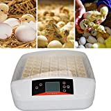 Ridgeyard 56 Digital Egg Incubator Temperature Control Clear Hatcher w/Built-in LED Egg Candler & Automatic Egg Turner for Poultry Chicken Duck Quail Goose