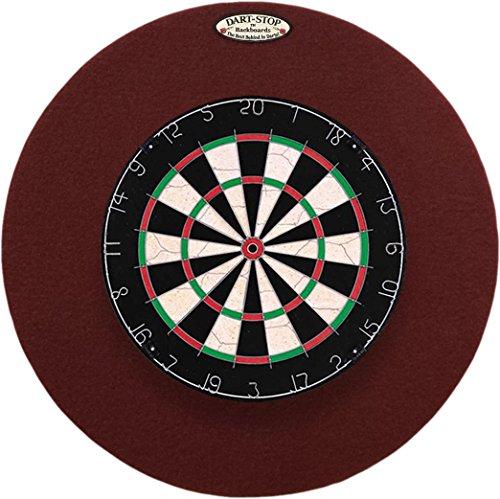 Dart Stop - Dart-Stop 29 inch Round Burgundy Pro Dart Board Backboard | Wall Protector | Dartboard Surround
