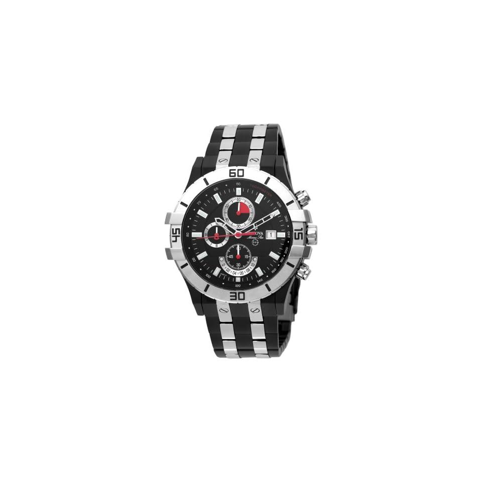 Bulova Mens 98B117 Marine Star Black Dial Watch