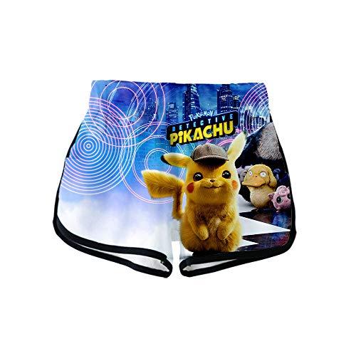 NIEWEI-YI Women's Swim Shorts 3D Graphic Pokemon Boardshorts Quick Dry Boyleg Swimwear Bottoms Funky Gym Workout Casual…